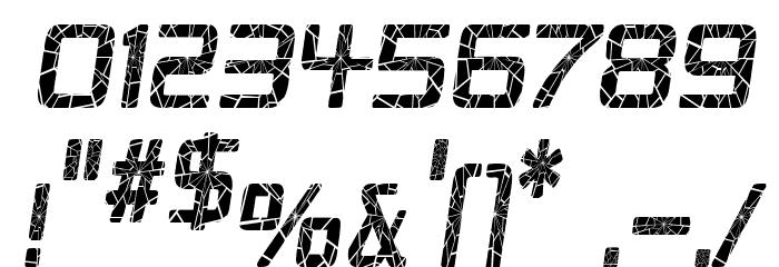 Republika Cnd - Shatter Italic Font OTHER CHARS