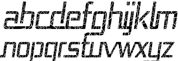 Republika Cnd - Shatter Italic Font UPPERCASE