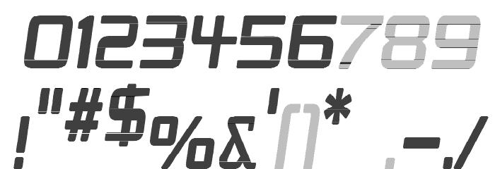 Republika IV Cnd - Haze Italic Шрифта ДРУГИЕ символов