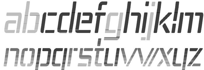 Republika IV Cnd - Haze Italic Шрифта строчной