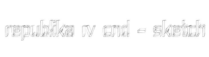 Republika IV Cnd - Sketch  フリーフォントのダウンロード