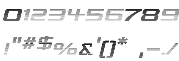 Republika IV Exp - Haze Italic Font OTHER CHARS