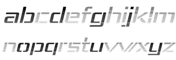 Republika IV Exp - Haze Italic Font LOWERCASE