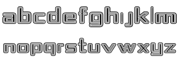 Republika IV Exp - Maze Font UPPERCASE