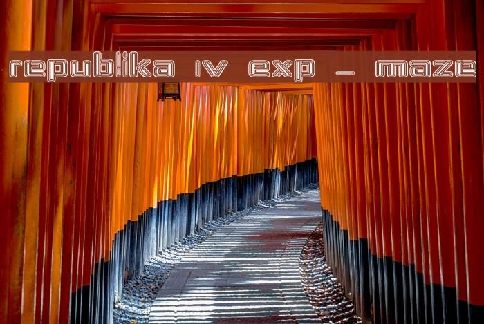 Republika IV Exp - Maze Font examples