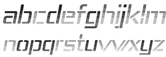 Republika IV - Haze Italic Font LOWERCASE