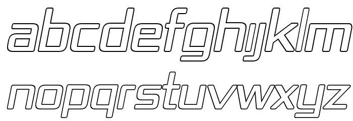 Republika IV - Outline Italic Font UPPERCASE