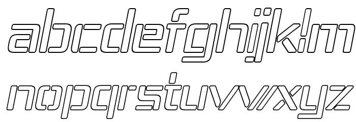 Republika IV - Outline Italic Font LOWERCASE