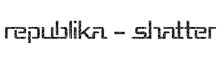 Republika - Shatter  Free Fonts Download