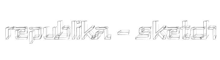 Republika - Sketch  Free Fonts Download