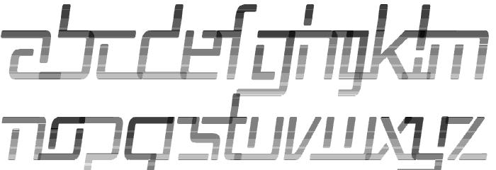 Republika V Cnd - Haze Italic Font UPPERCASE