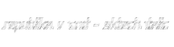 Republika V Cnd - Sktech Italic  Free Fonts Download