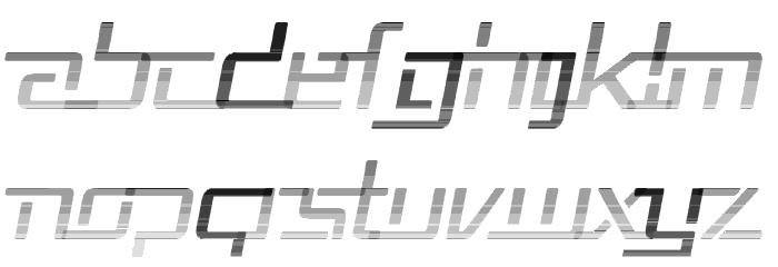 Republika V - Haze Italic Font UPPERCASE