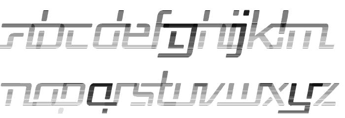 Republika V - Haze Italic Font LOWERCASE