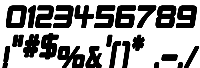 Republikaps Cnd - Ultra Italic Font OTHER CHARS