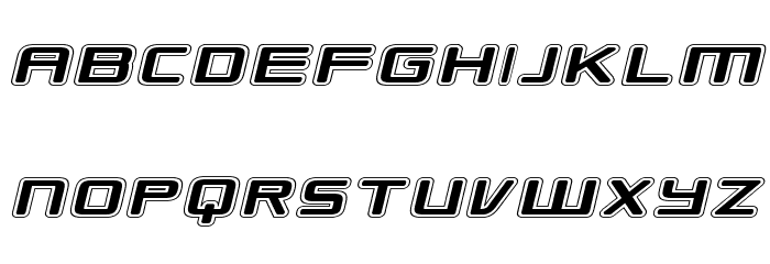 Republikaps Exp - College Italic Font UPPERCASE