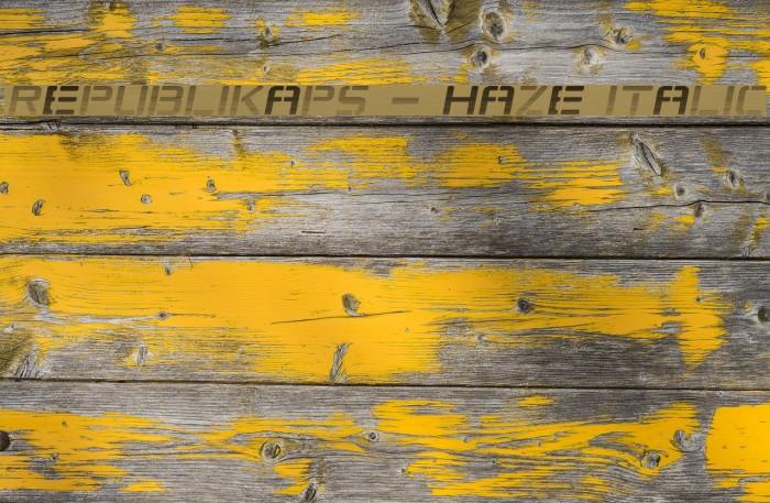 Republikaps - Haze Italic Font examples