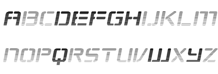 Republikaps - Haze Italic Font LOWERCASE