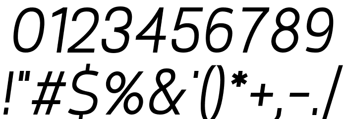Requiem Italic Font OTHER CHARS