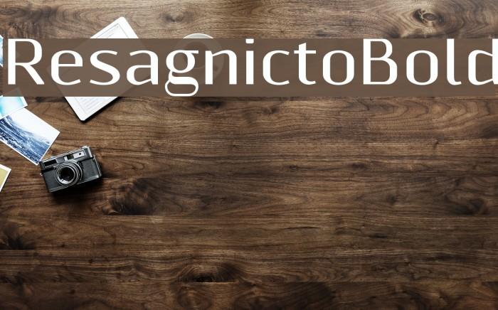 ResagnictoBold Font examples