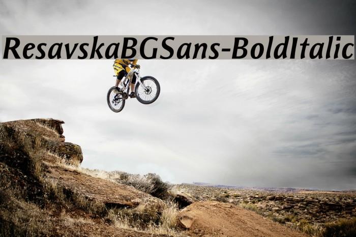 ResavskaBGSans-BoldItalic Fonte examples