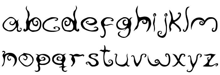ReservoirInk Font LOWERCASE