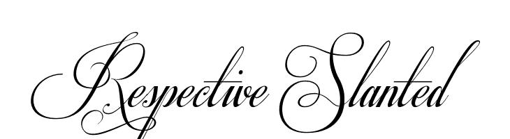 Respective Slanted  Free Fonts Download