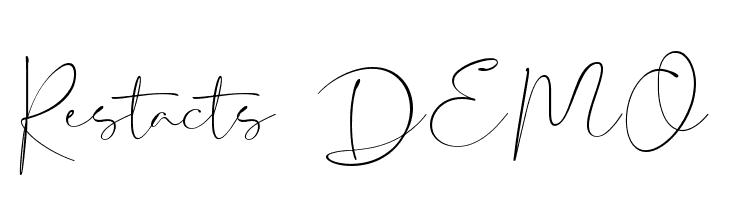 Restacts DEMO  Скачать бесплатные шрифты