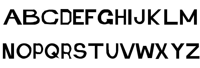 Retardo Font UPPERCASE