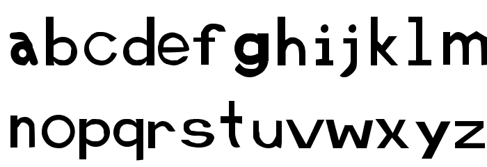 Retardo Font LOWERCASE