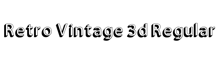 Retro Vintage 3d Regular  لخطوط تنزيل