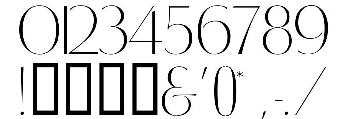 RetroSuperSkinny Font OTHER CHARS