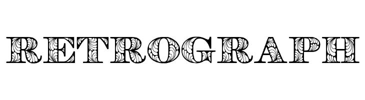 Retrograph  Frei Schriftart Herunterladen
