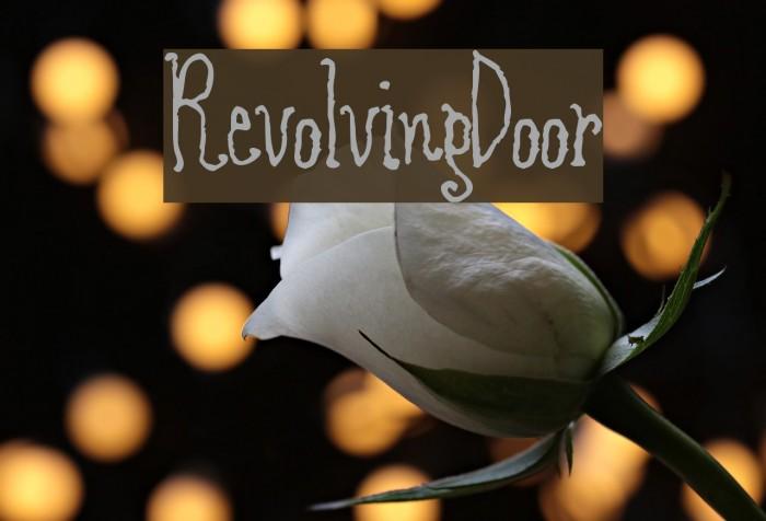 RevolvingDoor Font examples