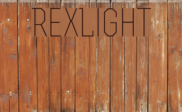 RexLight Font examples