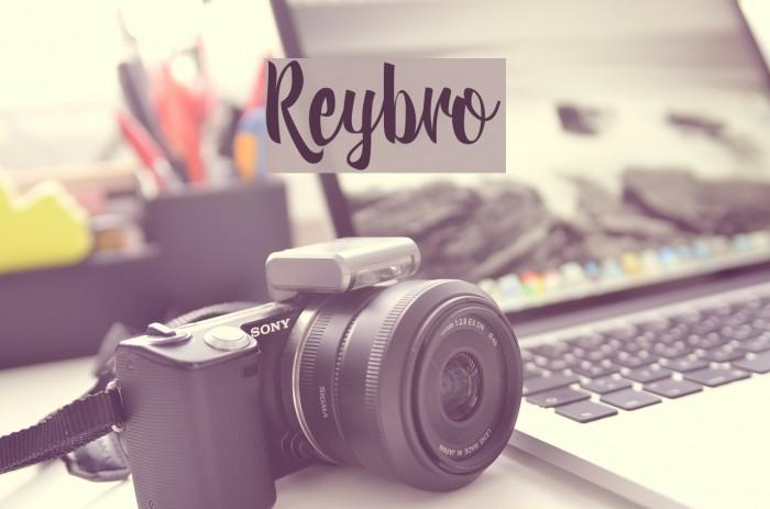 Reybro Schriftart examples