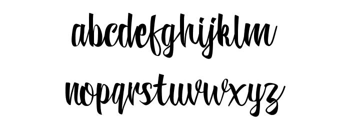 Reybro Schriftart Kleinbuchstaben