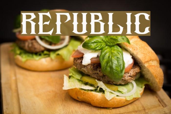 republic Font examples