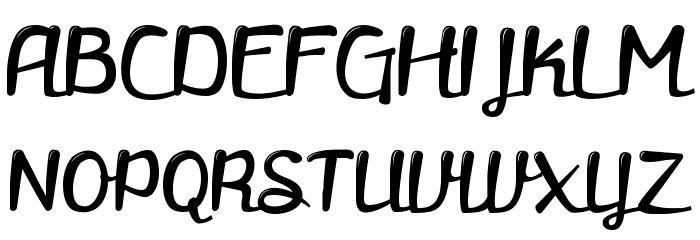 retrofitted Font UPPERCASE