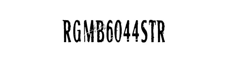 RGMB 6044 Str  baixar fontes gratis