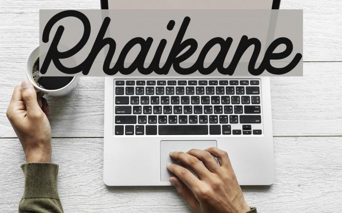 Rhaikane Fonte examples