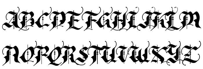 RhapsodyBlackLetter フォント 大文字