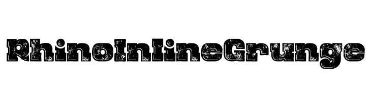Rhino Inline Grunge Font - free fonts download
