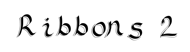 Ribbons 2  Free Fonts Download