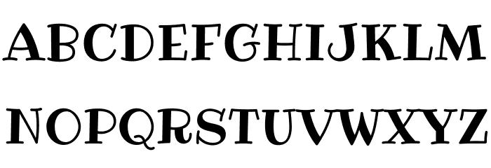 Ribeye-Regular Font UPPERCASE