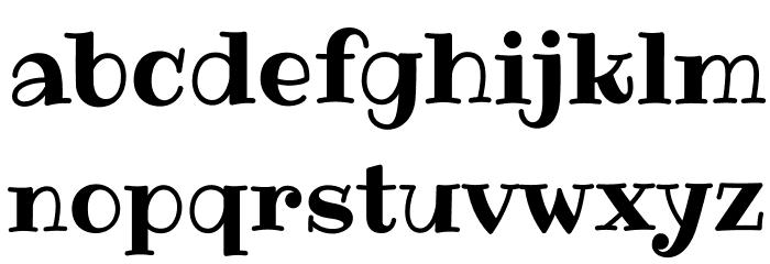 Ribeye-Regular Font LOWERCASE