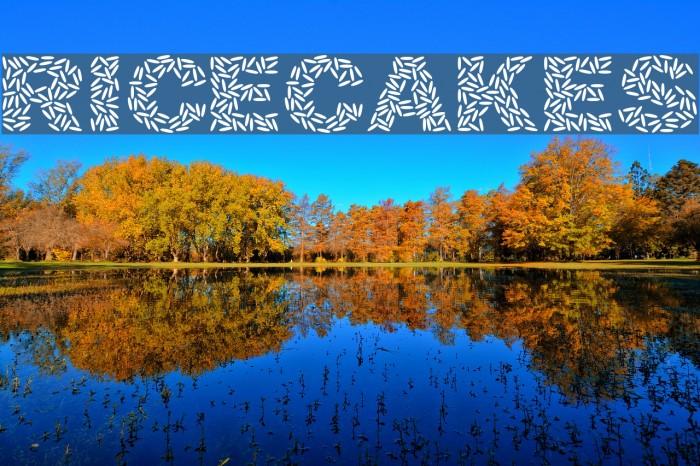 Ricecakes फ़ॉन्ट examples
