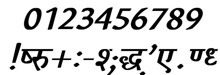 Richa Bold Italic フォント その他の文字