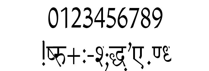 Richa Condensed フォント その他の文字