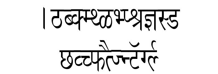 Richa Condensed フォント 大文字